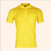 EGO SPORT EG6177เสื้อโปโลพิมพ์ลายแขนสั้นชาย สีเหลืองจัน