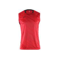 EGO SPORT EG5125 เสื้อฟุตบอลทอลายคอกลมแขนกุด สีแดง