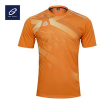 EGO SPORT EG5116 KIDS เสื้อฟุตบอลคอกลม สีส้มแสด