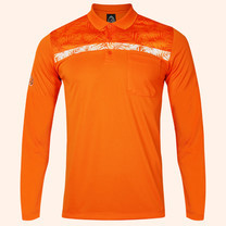 EGO SPORT EG6173 เสื้อโปโลชายแขนยาว สีส้มแสด