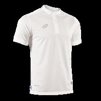 EGO PRIME PM214 : เสื้อโปโลแขนสั้น คอตั้ง สีขาว