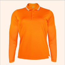 EGO SPORT EG6170 เสื้อโปโลหญิงเบสิคแขนยาวสีส้มแสด(99.95% Anti-Bacteria)