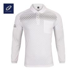 EGO SPORT EG6161 เสื้อโปโลพิมพ์ลายแขนยาว สีขาว