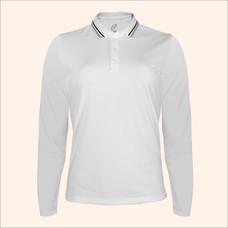 EGO SPORT EG6170 เสื้อโปโลหญิงเบสิคแขนยาวสีขาว(99.95% Anti-Bacteria)