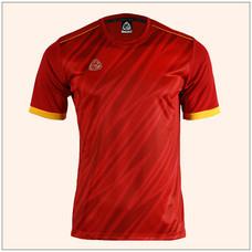 EGO SPORT EG5128 เสื้อฟุตบอลพิมพ์ลายคอกลมแขนสั้น สีแดงแทงโก้