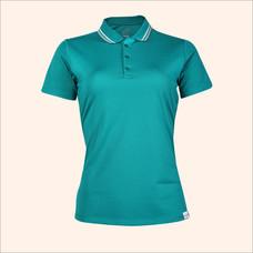 EGO SPORT EG6168 เสื้อโปโลหญิงเบสิคแขนสั้น สีเขียวทะเลอ่อน 99.95% Anti-Bacteria
