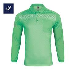 EGO SPORT EG6161 เสื้อโปโลพิมพ์ลายแขนยาว สีเขียวพาร์คกรีน