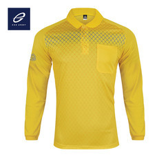 EGO SPORT EG6161 เสื้อโปโลพิมพ์ลายแขนยาว สีเหลืองจัน