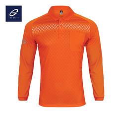 EGO SPORT EG6161 เสื้อโปโลพิมพ์ลายแขนยาว สีส้มแสด