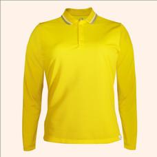 EGO SPORT EG6170 เสื้อโปโลหญิงเบสิคแขนยาวสีเหลืองจัน(99.95% Anti-Bacteria)