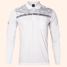 EGO SPORT EG6173 เสื้อโปโลชายแขนยาว สีขาว