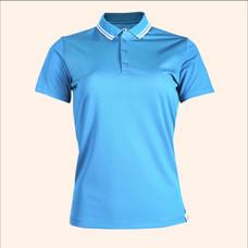 EGO SPORT EG6168 เสื้อโปโลหญิงเบสิคแขนสั้น สีฟ้าเข้ม 99.95% Anti-Bacteria