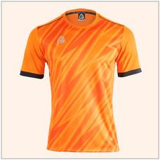 EGO SPORT EG5128 เสื้อฟุตบอลพิมพ์ลายคอกลมแขนสั้น สีส้มแสด