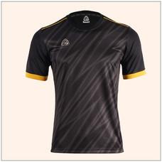 EGO SPORT EG5128 เสื้อฟุตบอลพิมพ์ลายคอกลมแขนสั้น สีดำ