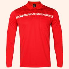 EGO SPORT EG6173 เสื้อโปโลชายแขนยาว สีแดง