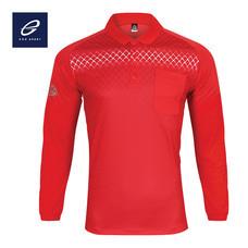 EGO SPORT EG6161 เสื้อโปโลพิมพ์ลายแขนยาว สีแดง