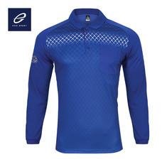 EGO SPORT EG6161 เสื้อโปโลพิมพ์ลายแขนยาว สีน้ำเงิน