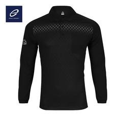 EGO SPORT EG6161 เสื้อโปโลพิมพ์ลายแขนยาว สีดำ
