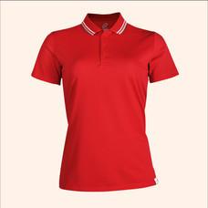 EGO SPORT EG6168 เสื้อโปโลหญิงเบสิคแขนสั้น สีแดงเข้ม 99.95% Anti-Bacteria