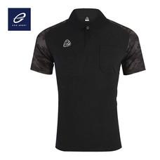 EGO SPORT EG6157 เสื้อโปโลพิมพ์ลายแขนสั้นชาย สีดำ