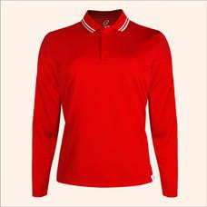 EGO SPORT EG6170 เสื้อโปโลหญิงเบสิคแขนยาวสีแดง(99.95% Anti-Bacteria)