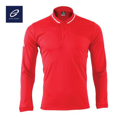 EGO SPORT EG6153 เสื้อโปโลแขนยาว สีแดง