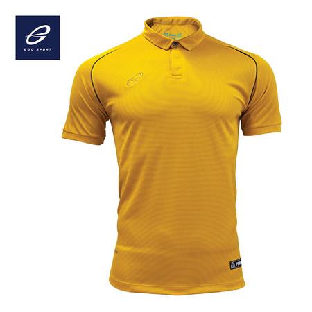 EGO PRIME PM211 เสื้อโปโลแขนสั้น ไหล่สโลป สีเหลืองทอง
