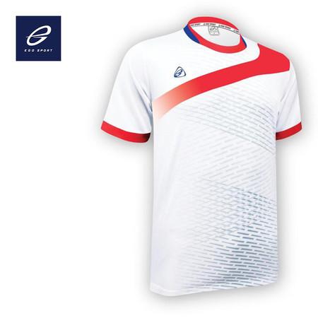 EGO SPORT EG5101 เสื้อฟุตบอลคอกลม สีขาว
