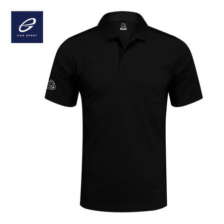 EGO SPORT EG6135 เสื้อโปโลเบสิกชาย สีดำ