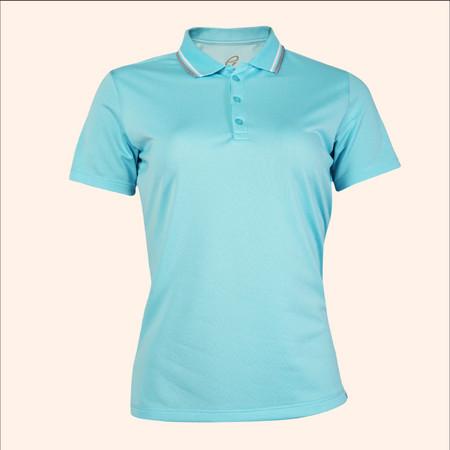 EGO SPORT EG6168 เสื้อโปโลหญิงเบสิคแขนสั้น สีฟ้าอ่อน 99.95% Anti-Bacteria