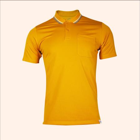 EGO SPORT EG6167 เสื้อโปโลชายเบสิคแขนสั้น สีเหลืองทอง 99.95% Anti-Bacteria