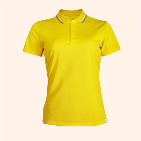 EGO SPORT EG6168 เสื้อโปโลหญิงเบสิคแขนสั้น สีเหลืองจัน 99.95% Anti-Bacteria