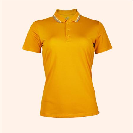 EGO SPORT EG6168 เสื้อโปโลหญิงเบสิคแขนสั้น สีเหลืองทอง 99.95% Anti-Bacteria