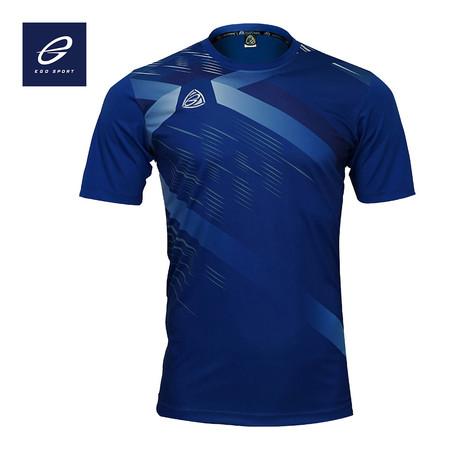 EGO SPORT EG5116 KIDS เสื้อฟุตบอลคอกลม สีน้ำเงิน