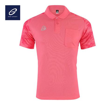 EGO SPORT EG6157 เสื้อโปโลพิมพ์ลายแขนสั้นชาย สีชมพูเข้ม