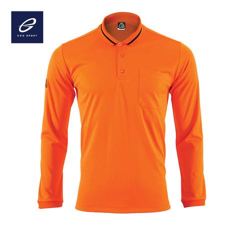 EGO SPORT EG6153 เสื้อโปโลแขนยาว สีส้มแสด