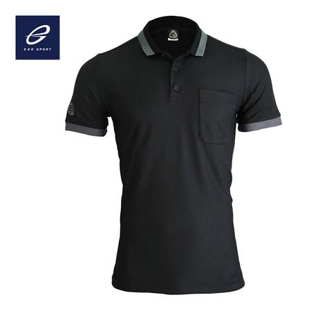 EGO SPORT EG6147 เสื้อโปโลแขนสั้นชาย สีดำ