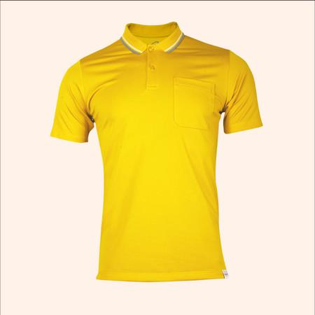 EGO SPORT EG6167 เสื้อโปโลชายเบสิคแขนสั้น สีเหลืองจัน 99.95% Anti-Bacteria