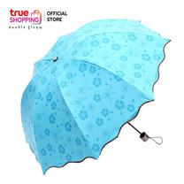 Magic Umbrella ร่มเปลียนลายเมื่อโดนน้ำ สีฟ้า