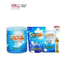 Ultimate Collagen ผลิตภัณฑ์เสริมอาหาร 250 g. 1 กระปุก แถมฟรี ขนาด 50g. 3 ซอง, ขนาด 10g. 5 ซอง + ตะกรุดเทพทันใจ