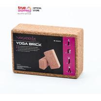 YOGATIQUE Yoga Block บล็อกโยคะ โฟมไม้ไผ่ สีน้ำตาล จำนวน 1 ชิ้น