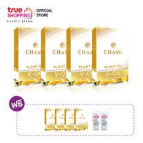ผลิตภัณฑ์เสริมอาหาร Chame V-Oil น้ำมันสกัดเย็น (ซื้อ 4 แถม 4 กล่อง) แถมฟรี เจลแอลกอฮอล์ 2 หลอด