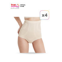 ONAMI Panty กางเกงกระชับสัดส่วน Free Size สีครีม 4 ตัว