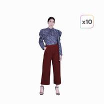 Araya อารยากางเกงสวมสบาย 10 ตัว (คละสี)