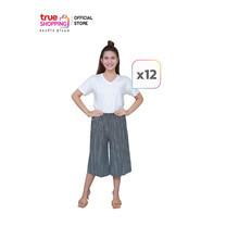 รุจิรา กางเกงขาบาน 7 ส่วน ลายเส้น เซต 12 ตัว