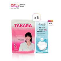 TAKARA COLLAGEN ทาคาระ คอลลาเจน ผลิตภัณฑ์เสริมอาหารบำรุงร่างกาย (50 กรัม X 6 ซอง) แถมฟรี หน้ากากอนามัย 3D 5 ชิ้น