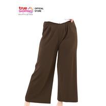Araya อารยา กางเกงสวมสบาย สีน้ำตาลอ่อน 1 ตัว