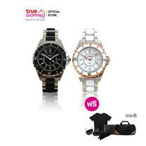Mike Watch Ceramic Collection นาฬิกา แถมฟรี แว่นกันแดด กระเป๋าสตางค์ เสื้อยืด กระเป๋า