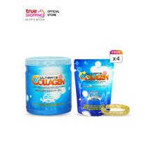 Ultimate Collagen Tri-Peptide เพียวคอลลาเจน 250 กรัม 1 กระปุก แถมฟรี 50 กรัม 4 ซอง + กำไล