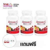 Trueshopping Amore ผลิตภัณฑ์เสริมอาหาร Vit C 3 กระปุก (30 เม็ด/กระปุก) แถมฟรี! 2 กระปุก และ JB Collagen 2 ซอง (5 ก./ซอง)